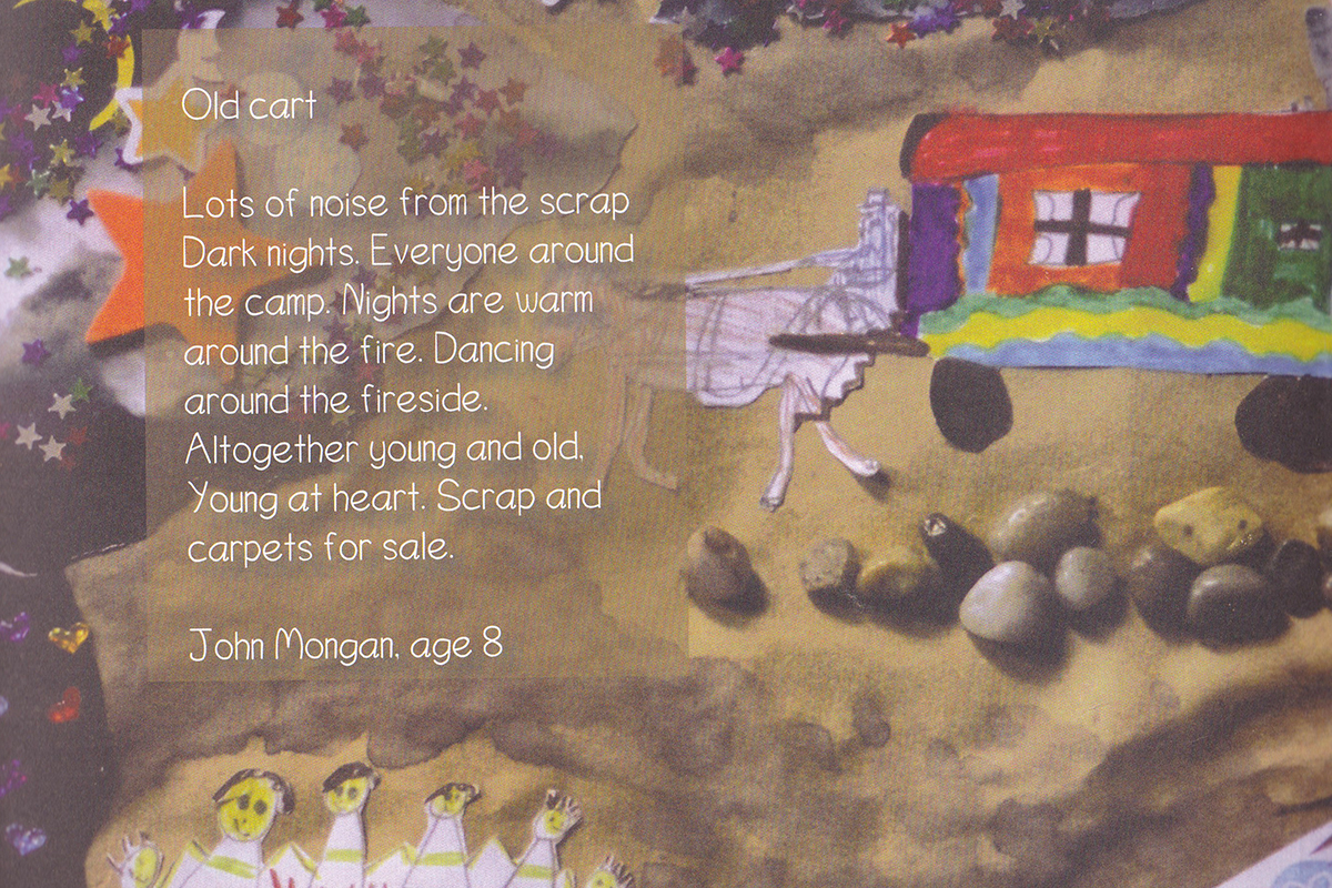Poem and collage about living in a caravan - Kids Own book