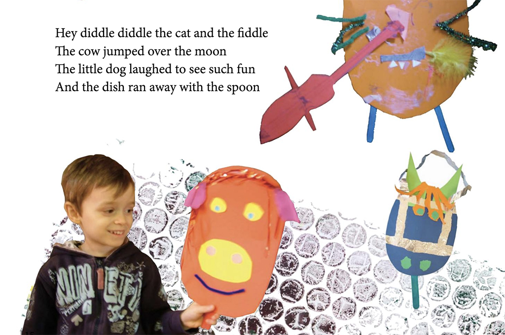 Wiggly Woo agus a Chairdre - children nursery rhyme book by Kids' Own