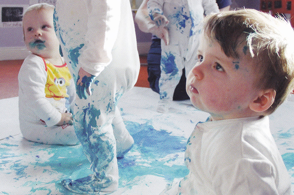 Babies playing with paint - Lullaby project by Kids Own