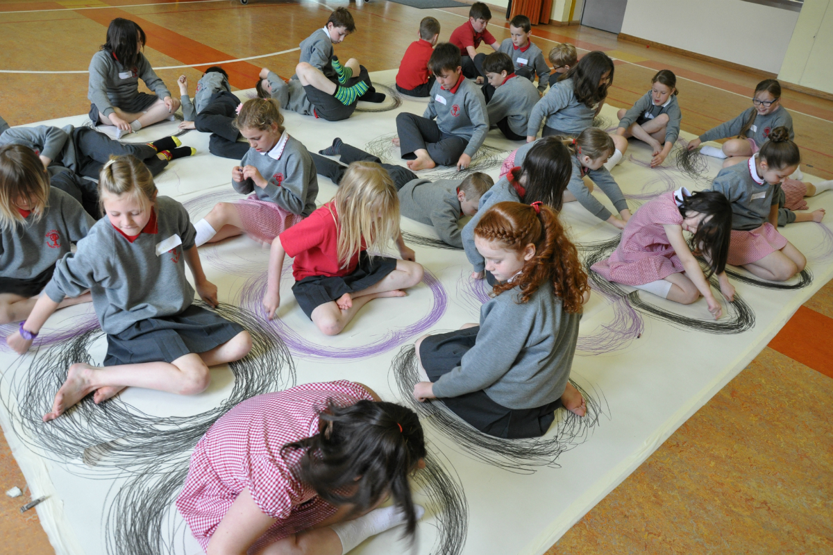 100 Efforts Drawing, 2013 | Virtually There Project | Kids' Own Publishing Partnership
