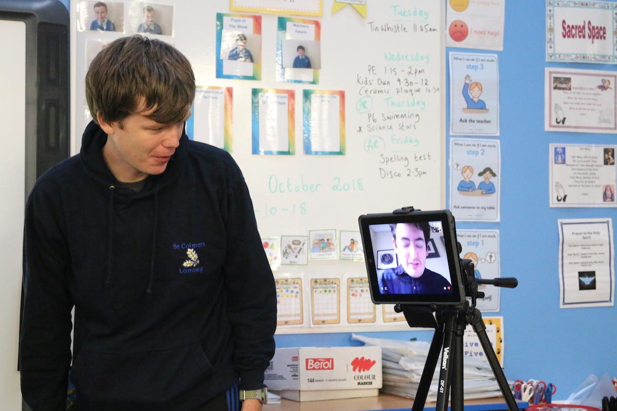Teacher Chris McCambridge & artist John D'Arcy | Virtually There Project | Kids' Own