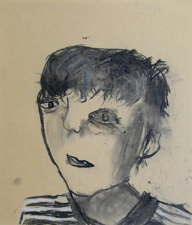 Charcoal and chalk on wax paper, 2016 Patrick, P5