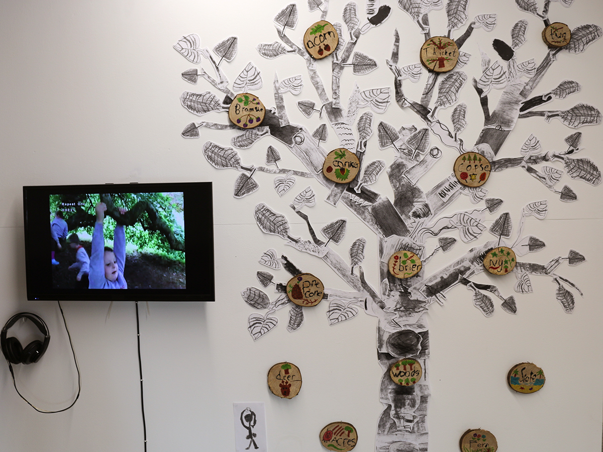 Aughnocloy exhibit at Virtually There exhibition - Kids Own - Video and Tree