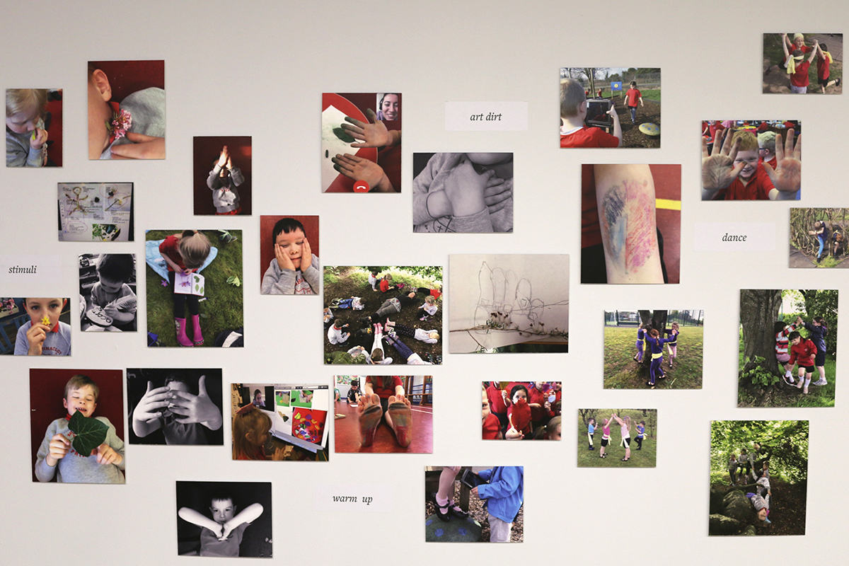 Aughnocloy exhibit at Virtually There exhibition - Kids Own - Photo montage on wall
