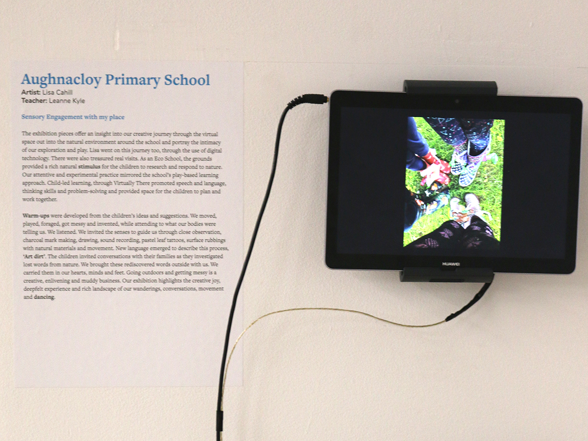 Aughnocloy exhibit at Virtually There exhibition - Kids Own - Video with text