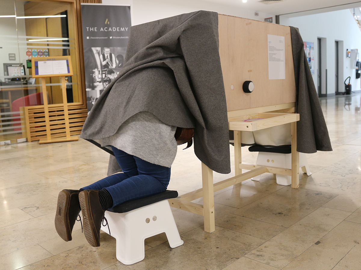 Ballydown exhibit in Virtually There exhibition - Kids Own - Magic viewing box