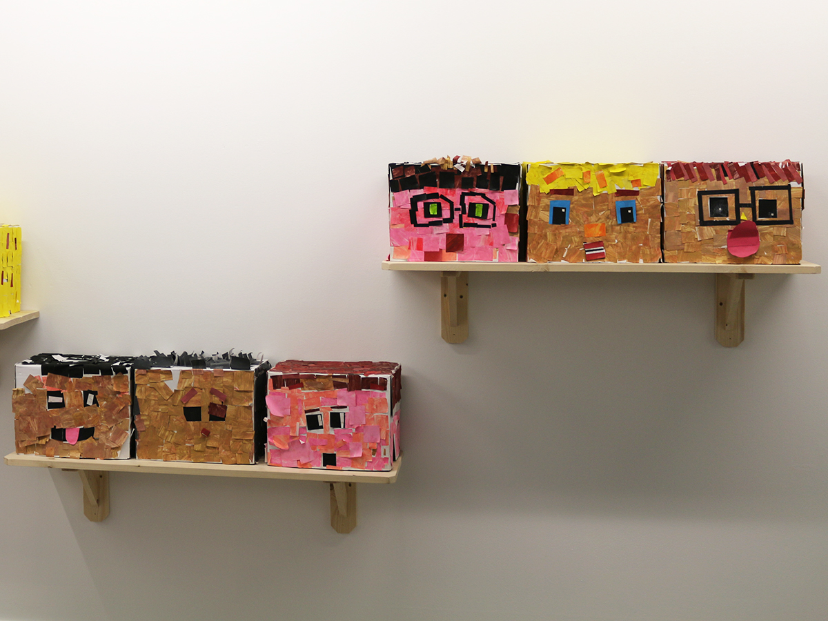 St Colman's Primary School - Virtually There Exhibition - Kids Own Publishing - box characters