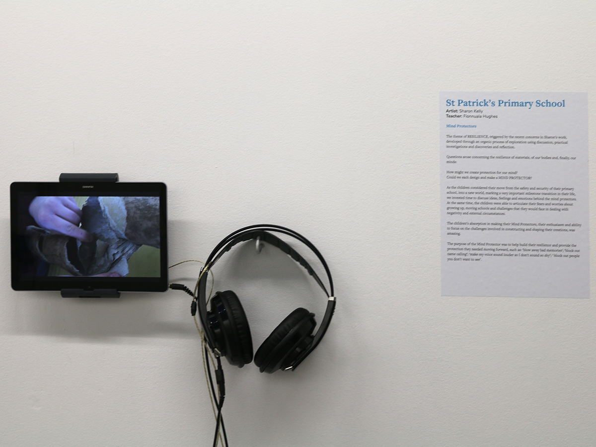 St Patrick's Primary School - Virtually There exhibition - Kids own Publishing - video piece with text