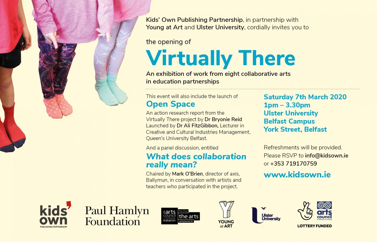 Ulster University exhibition 2020 | Virtually There Project | Kids' Own Publishing Partnership