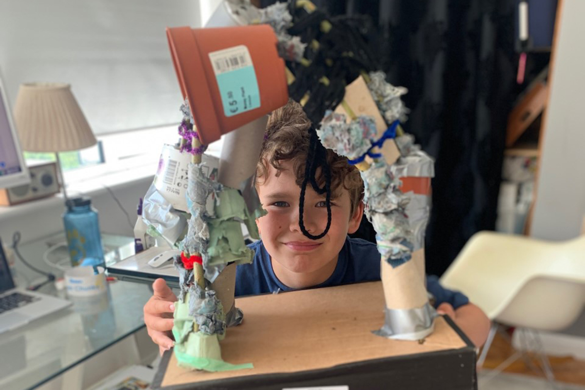 Kids Own Reinventors sculptures