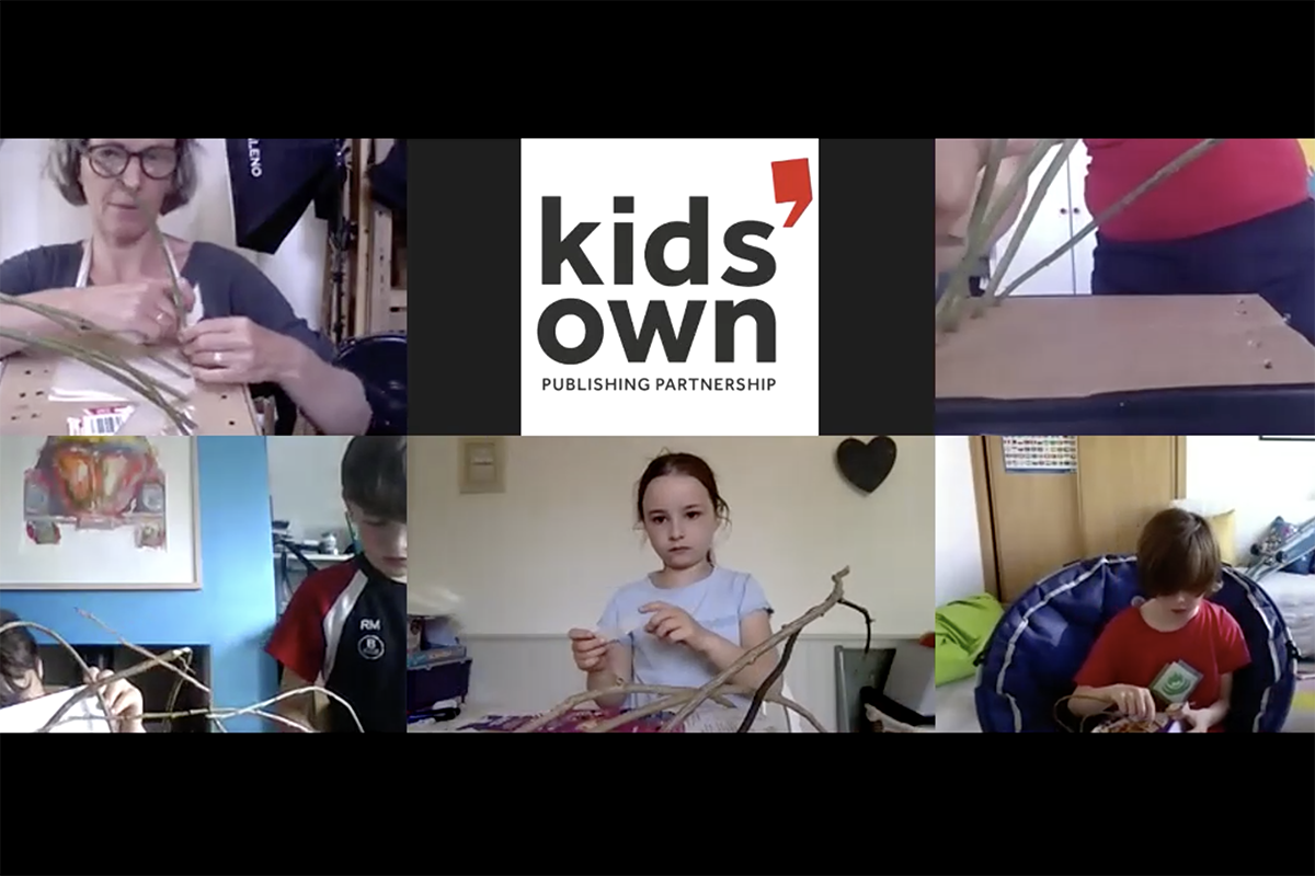 Online workshop in progress - Kids Own Reinvention project