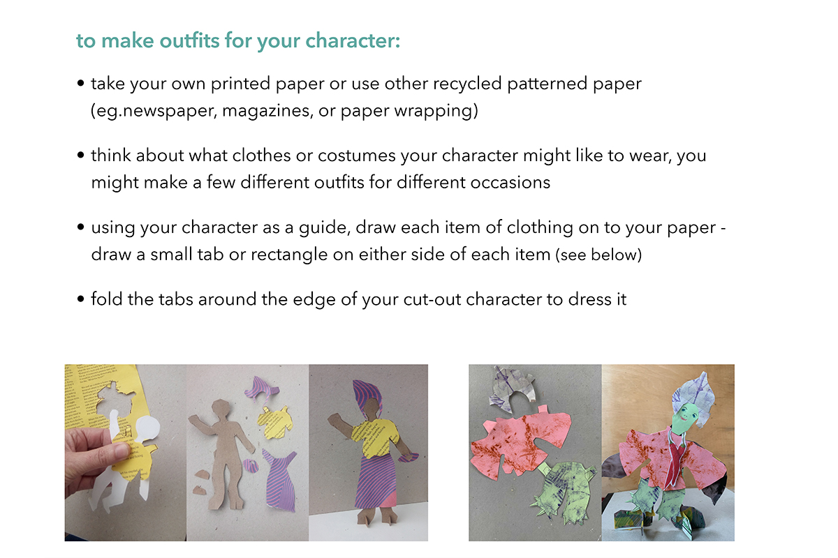 Page 6 - Anna Spearman guide to making paper standing figures - Kids Own art project online