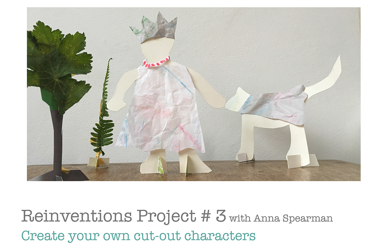 Page 1 - Anna Spearman guide to making paper standing figures - Kids Own art project online