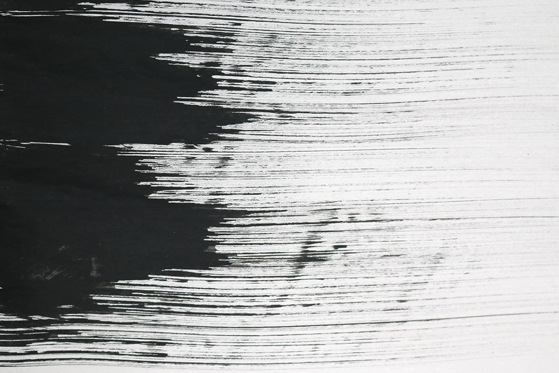 Black ink drawing experimental