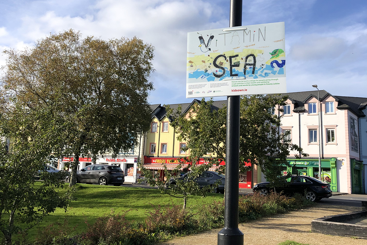 'Vitamin Sea': poster hung on pole in town