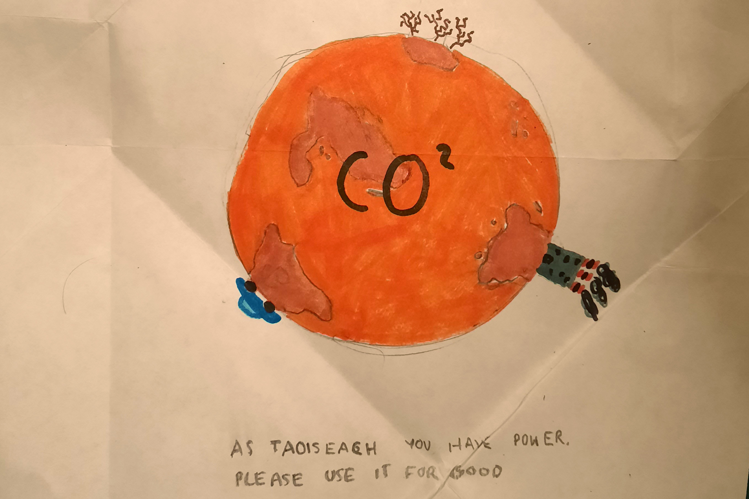 Letter to Taoiseach about climate breakdown