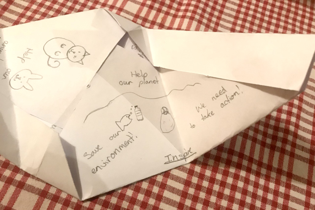 Origami style letter and envelope in one!