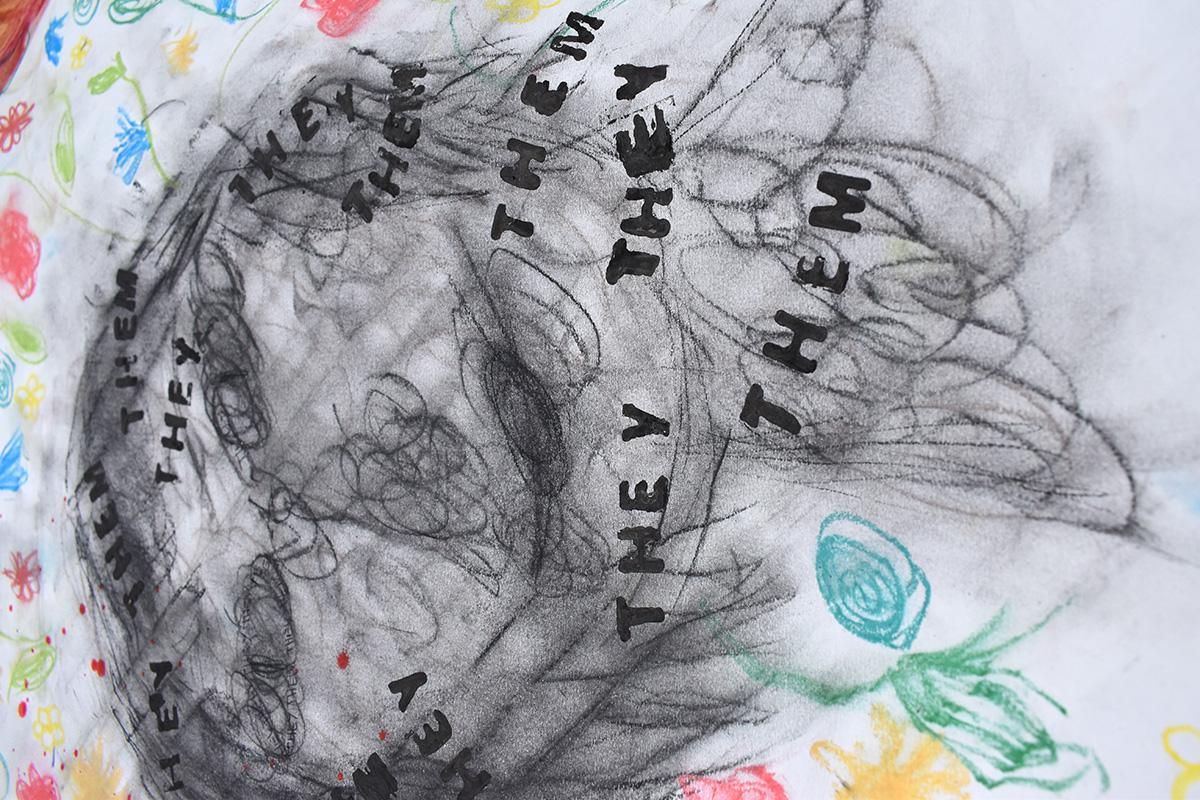 LGBTQIA+ art project: They, Them self portrait