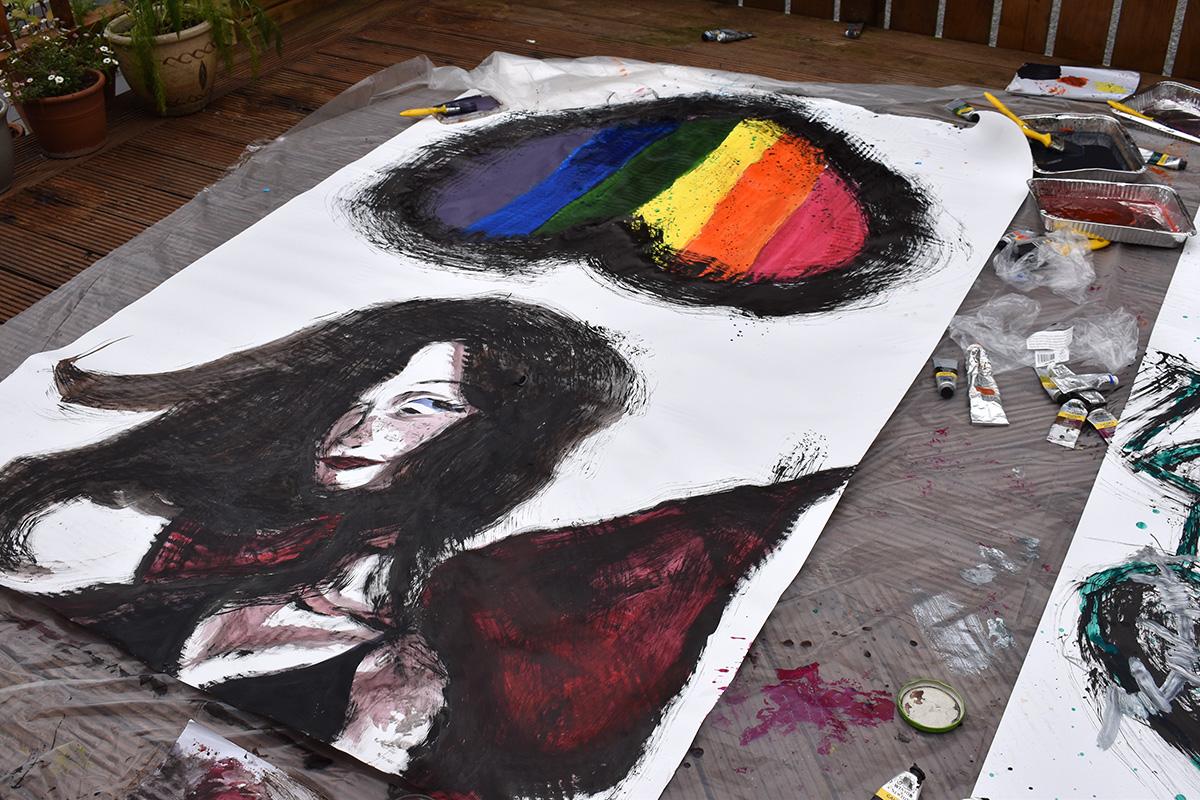 LGBTQIA+ art project in Sligo: Painted self portraits